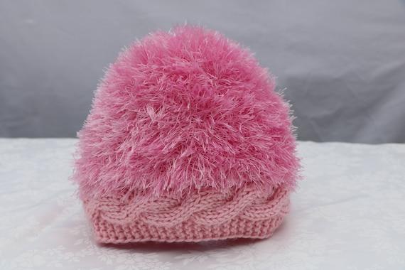 KNITTING PATTERN Faux Fur Hat baby toddler kids  teens woman  4dbdbda3898