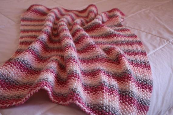 Knitting Pattern For Baby Blanket Bulky Baby Blanket Pattern Etsy