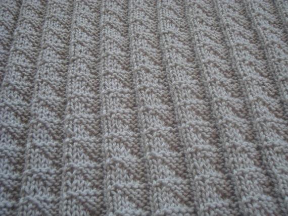 Knitting Pattern For Baby Blanket Pdf Diy Baby Blanket Etsy