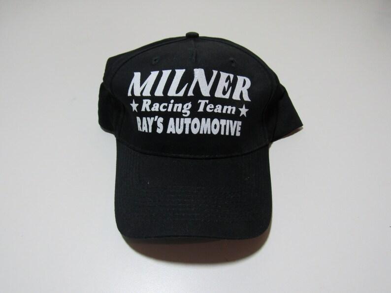a20f569eb498f Milner Racing Team Black Baseball Cap Hat American Graffiti