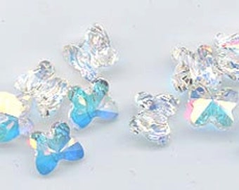 a021377db5 Twelve beautiful Swarovski butterfly beads - art 5754 - crystal AB - 8 mm