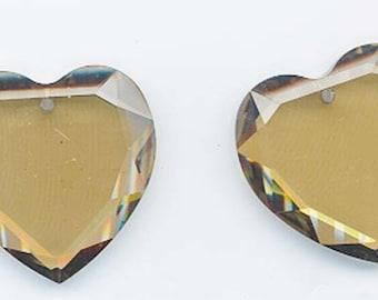 Two gorgeous Swarovski crystals - art 6225 - 28 mm - crystal cognac