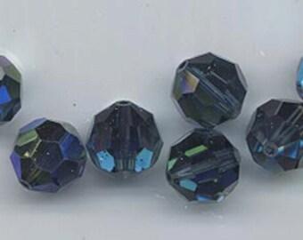 24 gorgeous Swarovski crystals - art 5000 - 6 mm - montana AB
