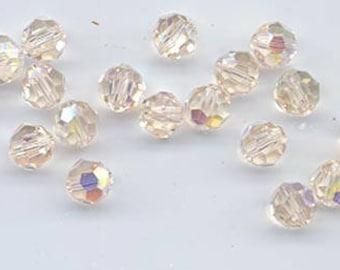 24 gorgeous Swarovski crystals - art 5000 - 6 mm - silk AB