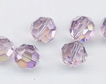 24 gorgeous Swarovski crystals - art 5000 - 6 mm - light amethyst AB