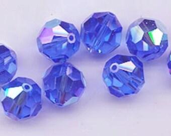 24 gorgeous Swarovski crystals - art 5000 - 6 mm - sapphire AB