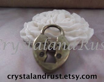 8pc. Cute Little DIOR Lock Charms --- Antique Bronze Color --- CHM - 151