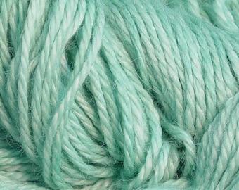 Hand Dyed Alpaca Yarn in Spearmint - Finger Wt - 250 yds