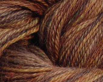 Hand Dyed Alpaca Yarn in Mystic Walnut - Finger Wt - 250 yds