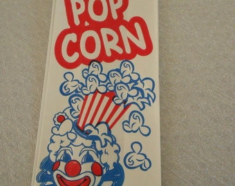 Set of 20 Retro Circus Decor Vintage 1970s Popcorn Bag Carnival-Themed Gift Bag Clown Party Bags