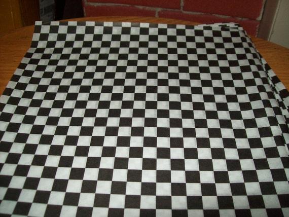 retro black checkerboard deli wrap wax paper food basket etsy