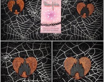 SALE Castle hearts sweater clips