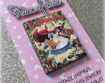 Red riding hood book pin