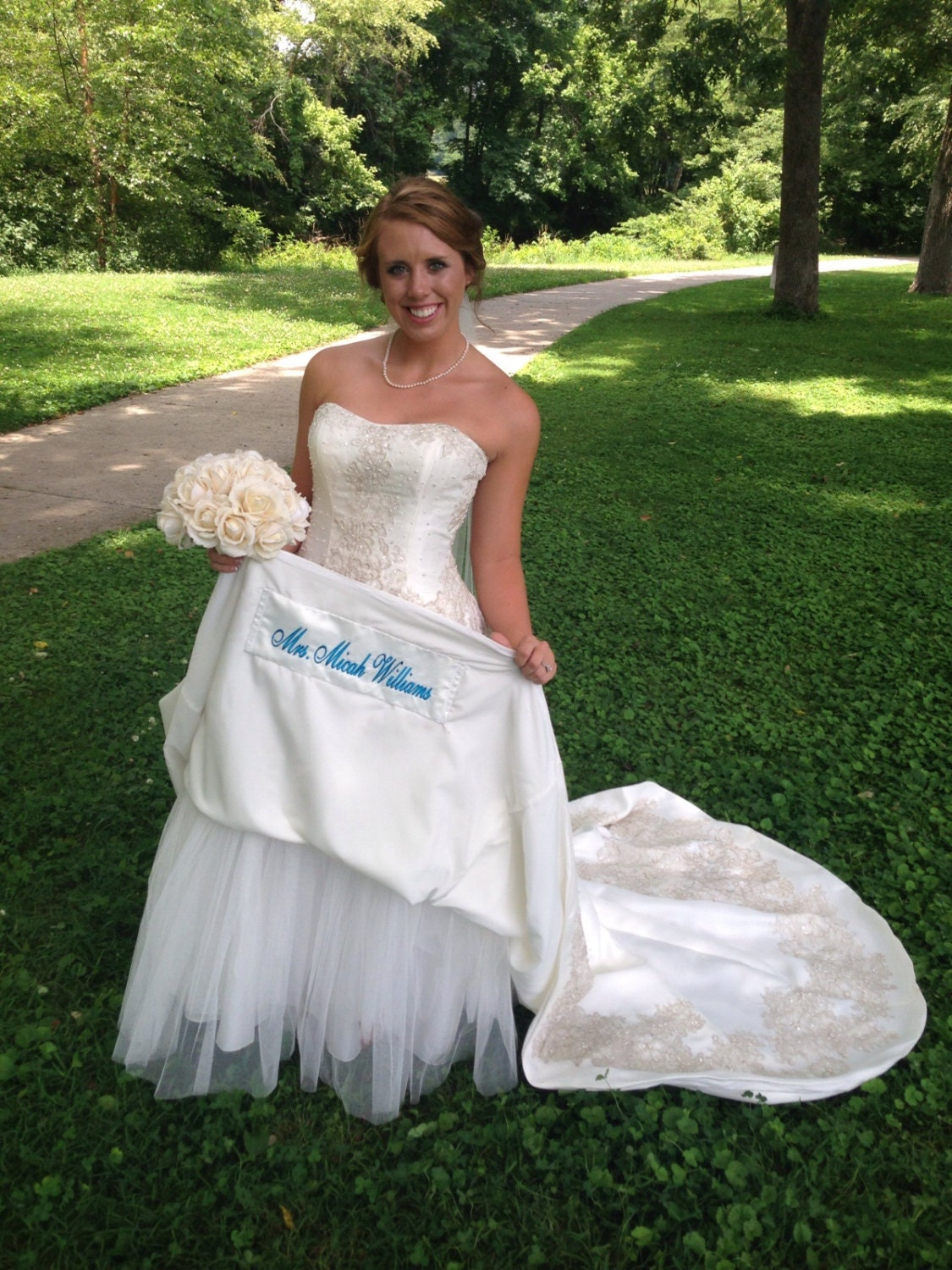Blue Dress Tag Name Patch For Hem Of Wedding Dress Wedding Etsy