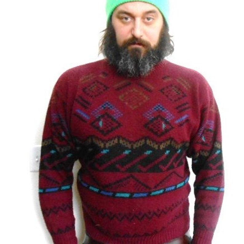 90s Sweater Southwestern Sweater Grunge Sweater Etsy