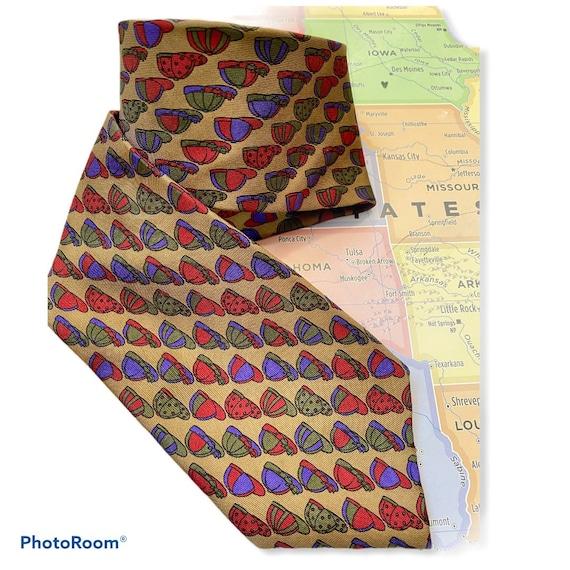 vintage fendi roma tie, fendi necktie, designer ne