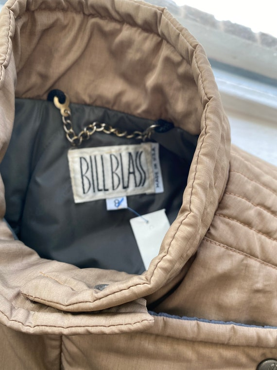 vintage bill blass puffer coat, winter coat size … - image 7