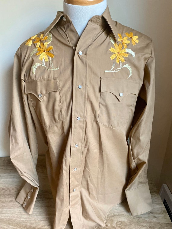 embroidered western shirt, cowboy shirt with flowe