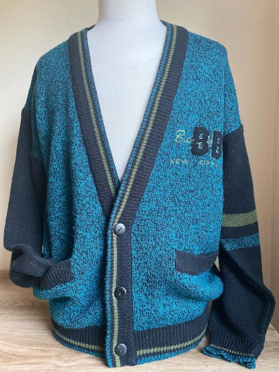 90s cardigan, bugle boy sweater, cardigan sweater,