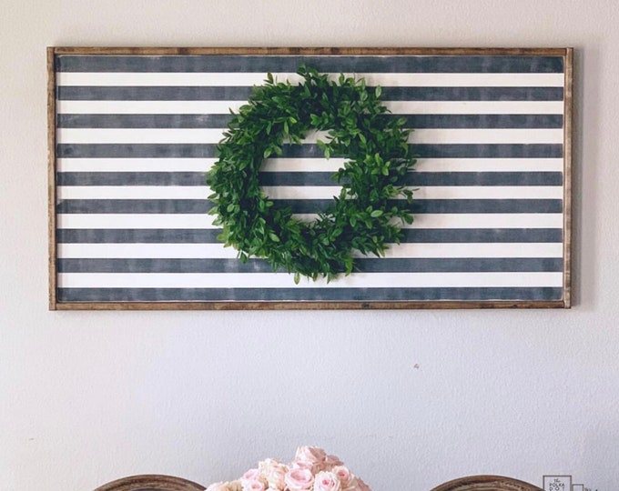 Sign with Wreath | Wreaths for Front Door | Wood Signs