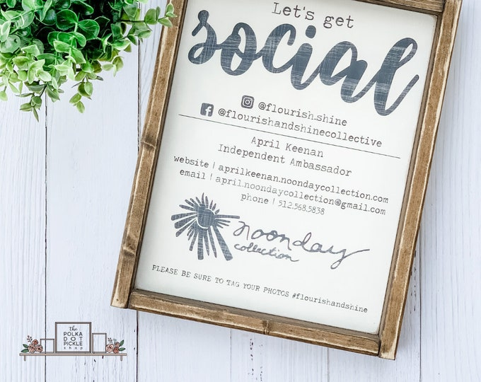 Custom Sign 8 inches x 10 inches | Custom Social Sign | Custom Wood Sign | Custom Home Decor