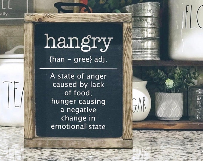 Hangry Wood Sign | Kitchen Sign | Wood Sign | Kitchen Decor