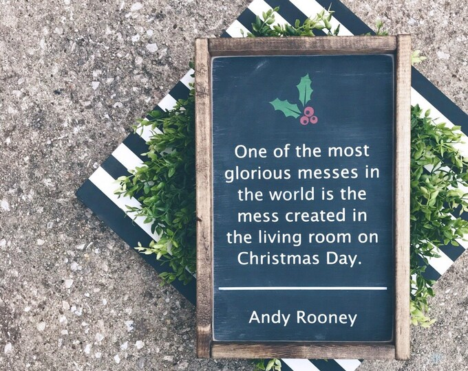 Christmas Sign | Andy Rooney Quote | Christmas Quote | Wood Sign | Christmas Decor | Holiday Decor