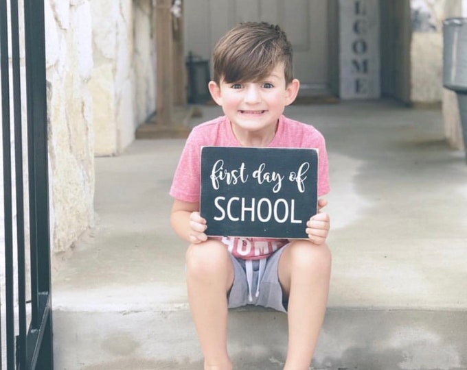 Back to School Sign | First Day of School Sign | Last Say of School Sign | Wood Signs | Photo Prop Sign