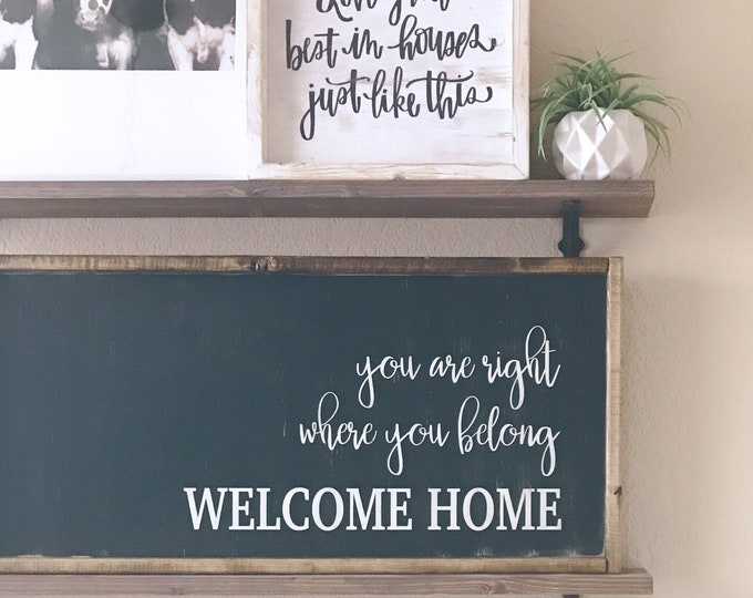Welcome Home Wood Sign | Home Decor | Farmhouse