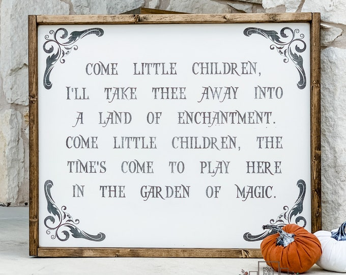 Come Little Children | Hocus Pocus | Sanderson Sisters | Halloween Wood Sign | Wood Sign