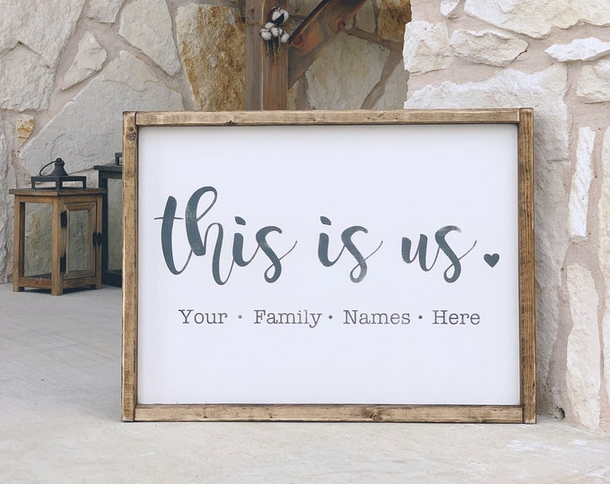This Is Us Sign | Personalized Family Sign | Custom Sign