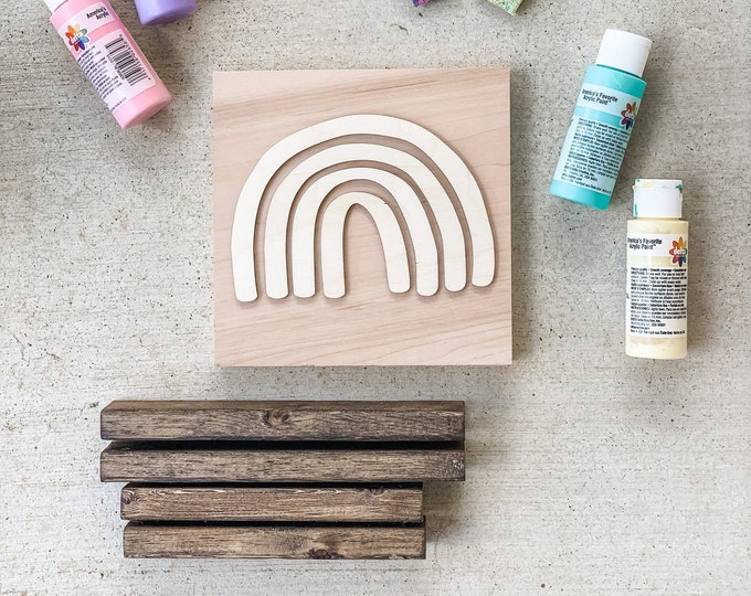 DIY Wood Sign | DIY Rainbow Sign | DIY Wood Decor