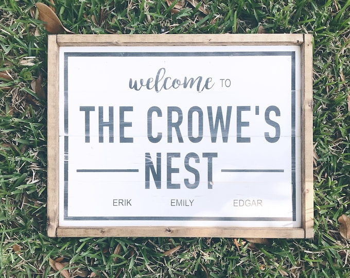 Last Name Sign | Family Name | Wedding Gift | Bridal Shower Gift | Housewarming Gift