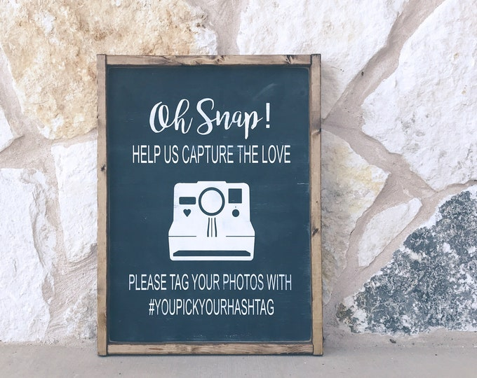 Custom Instagram Wedding Sign | Wedding Decor