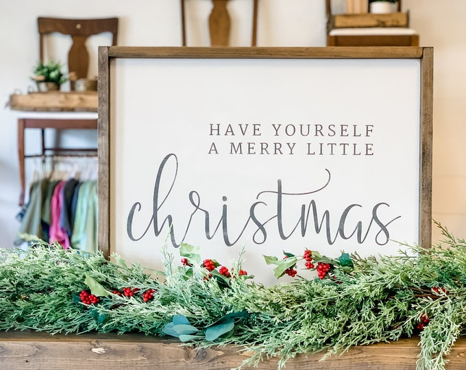 Have Yourself a Merry Little Christmas | Be Merry | Faux Deer |  Christmas Signs | Christmas Decor | Wood Sign