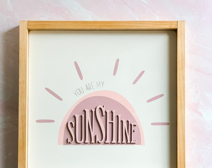 You Are My Sunshine | Nursery Decor | Kids Room Decor | Sunshine | Wood Sign