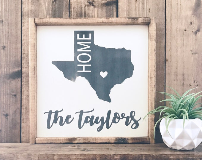 Texas State Sign | Wood Sign | Farmhouse Decor