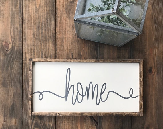 Home Wood Sign | Home Sweet Home | Home Decor | Housewarming Gift | Custom Sign | Wood Sign