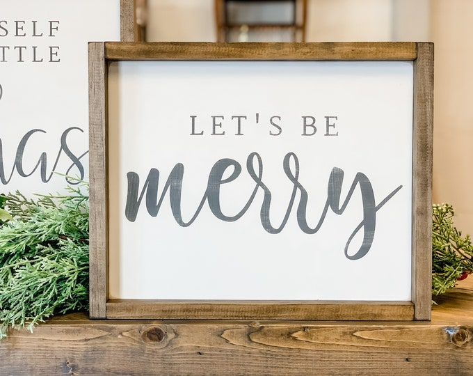 Be Merry Wood Sign | Merry Christmas Sign | Christmas Signs | Christmas Decor | Home Decor | Wall Hanging