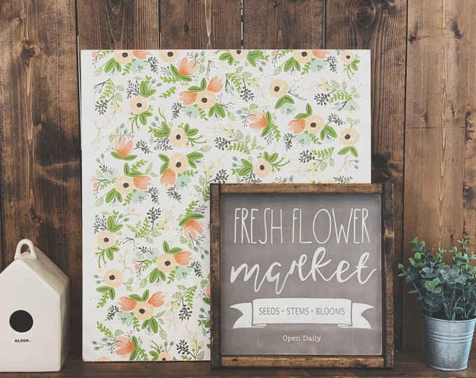Fresh Flower Market Sign | Flower Market Sign | Spring Sign | Wood Sign