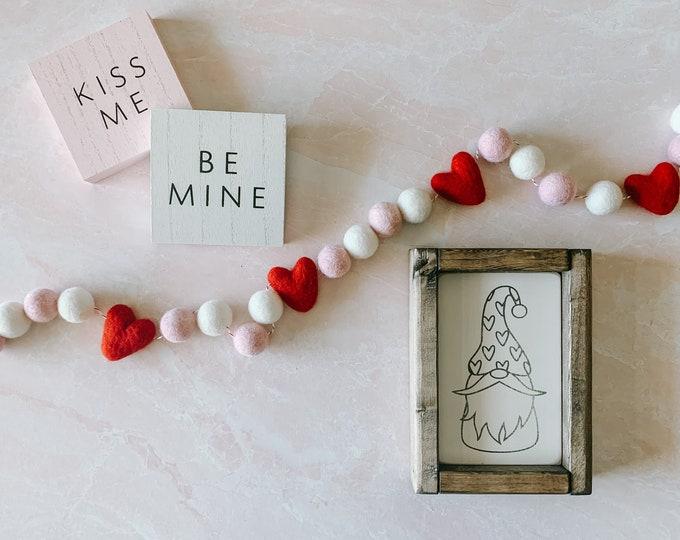 Valentine's Day Gnome Sign   Valentine's Day Gift   Valentine's Day Decor   Gnomes   Gnome Valentine