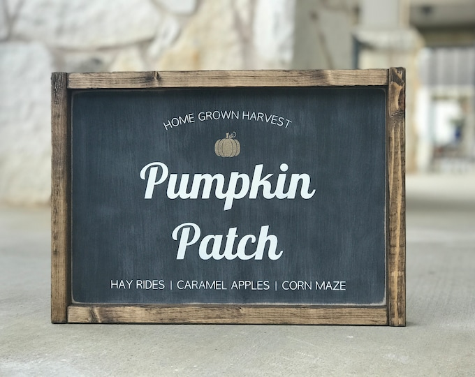 Pumpkin Patch Sign | Pumpkin Sign | Thanksgiving Wood Sign | Fall Sign