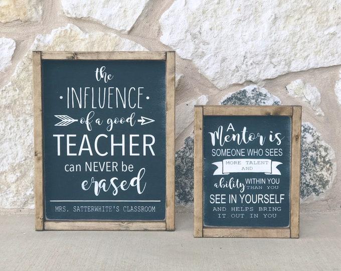 Teacher Gift | Teacher Wood Sign | Mentor | Teacher Appreciation | Wood Sign