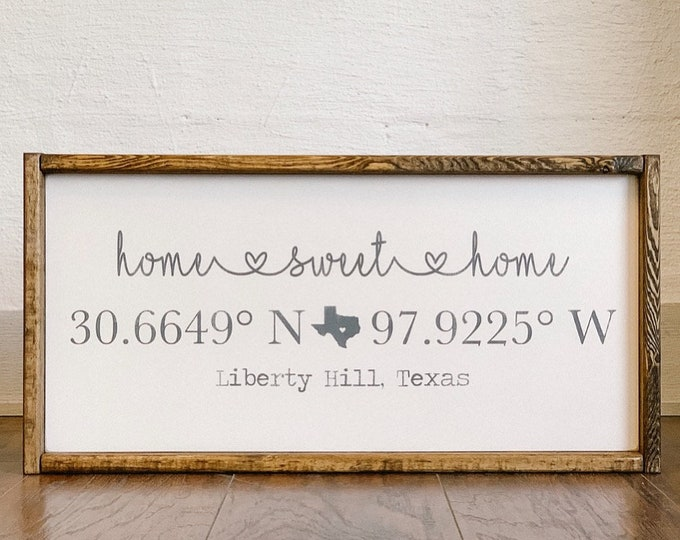 Custom Coordinates Sign | Your City, Your State