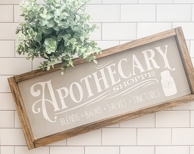 Apothecary Sign | Essential Oil Sign | Wood Sign | Young Living Essential Oils