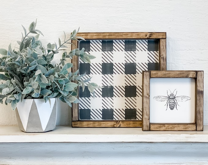 Bee Wood Sign | Bee Home Decor | Bee Decor | Honeybee | Wood Sign