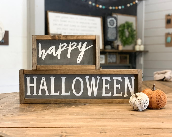Halloween Wood Sign Stacker