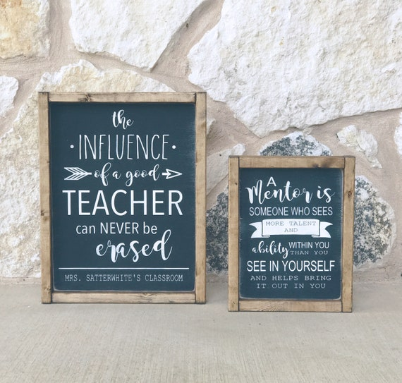 Teacher Gift | Teacher Wood Sign | Mentor | Teacher Appreciation | Wood Sign