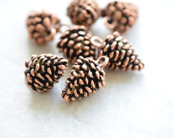 41f15a310af 1 - Small Pine cone Charm Antique Bronze Pine Cone Pendant Forest Charm  Woodland Charm Vintage Style Jewelry Supplies (AL067)