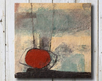 """Original Painting - Abstract - Mixed Media - Size 11.8"""" x 11.8"""" (30cm x 30cm)"""